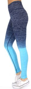 SERENITA E38A Workout yoga long leggings ombre print Navy/Blue
