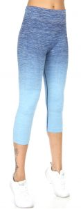 Wholesale B41A Active heathered ombre capri leggings Denim