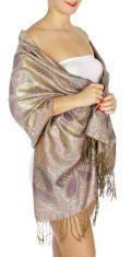 serenita D10 Lurex Paisley Pashmina 13 fashionunic