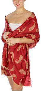 serenita D34 Reversible baby paisley pashmina Red