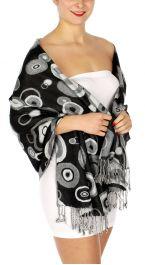 serenita D26 Pashmina Multi Circle W Black fashionunic