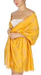 serenita D34 Reversible baby paisley pashmina Yellow