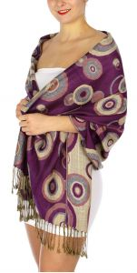 serenita D26 Pashmina Multi Circle Lite Purple