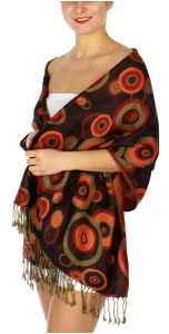 serenita D26 Pashmina Multi Circle Black fashionunic