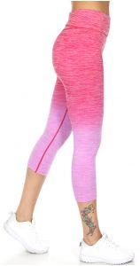 Wholesale B41A Active heathered ombre capri leggings Fuchsia