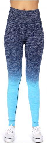 SERENITA E38A Workout yoga long leggings ombre print Navy/Blue