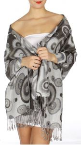serenita D26 Pashmina Multi Circle Grey fashionunic