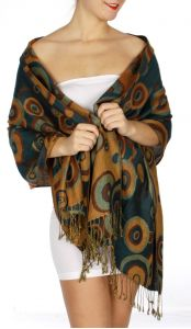 serenita D26 Pashmina Multi Circle Forest fashionunic