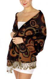 serenita D26 Pashmina Multi Circle B Black fashionunic