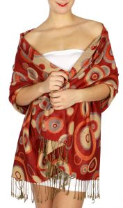 serenita D26 Pashmina Multi Circle Rose fashionunic