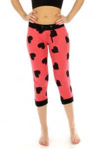 N04 Heart capri jogger pants Red fashionunic