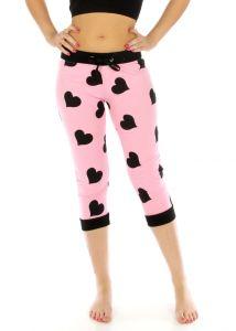 N04 Heart capri jogger pants Pink