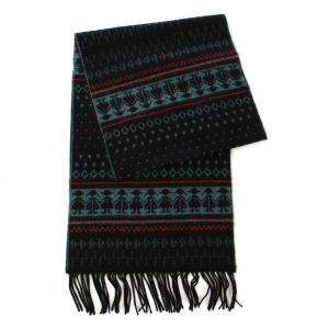 SERENITA O65 Cashmere Feel Scarf 87601 Tribal Black
