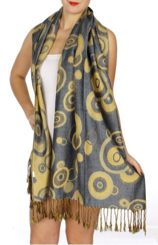 serenita D26 Pashmina Multi Circle B Grey fashionunic
